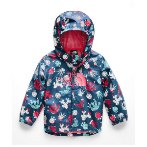 The North Face Infant Novelty Flurry Wind Jacket - 12M - Blue Wing Teal Cactus Lino Print