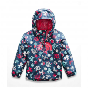 The North Face Toddlers' Novelty Flurry Wind Jacket - 2T - Blue Wing Teal Cactus Lino Print