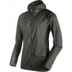 Mammut Men's Kento Light SO Hooded Jacket - XXL - Titanium / Dark Titanium