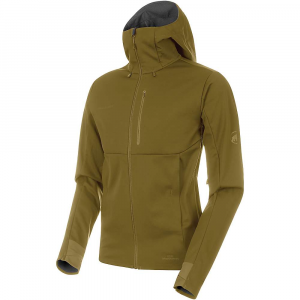 Mammut Men's Ultimate V SO Hooded Jacket - XL - Olive / Titanium Melange