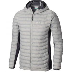Columbia Men's Powder Pass Hooded Jacket - 4XL Tall - Cool Grey Heather / Graphite