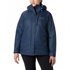 Columbia Women's Whirlibird IV Interchange Jacket - Medium - Dark Nocturnal Sparkler Print / Fathom Blue