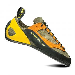 La Sportiva Men's Finale Climbing Shoe - 39.5 - Brown / Orange