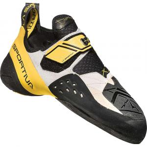 La Sportiva Men's Solution Climbing Shoe - 39 - White / Yellow
