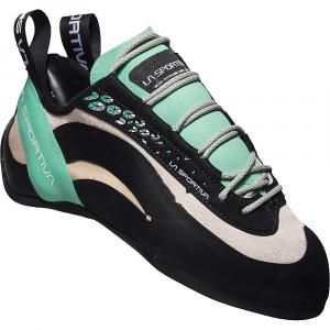 La Sportiva Women's Miura Climbing Shoe - 39 - White / Jade Green