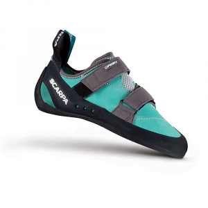 Scarpa Women's Origin Climbing Shoe - 36 - Green Blue/Smoke