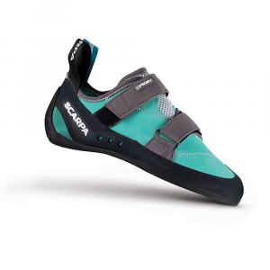 Scarpa Women's Origin Climbing Shoe - 37 - Green Blue/Smoke