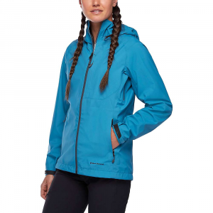 Black Diamond Women's Highline Stretch Shell Jacket - Medium - Fjord Blue