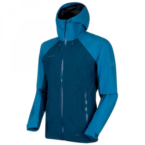 Mammut Men's Convey Tour Hardshell Hooded Jacket - Small - Wing Teal / Sapphire