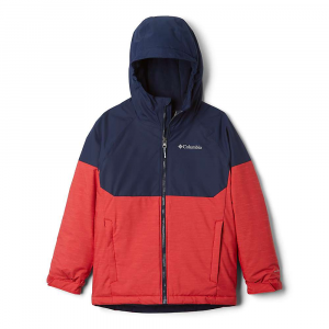 Columbia Boys' Alpine Action II Jacket - Large - Mountain Red Heather/Collegiate Navy