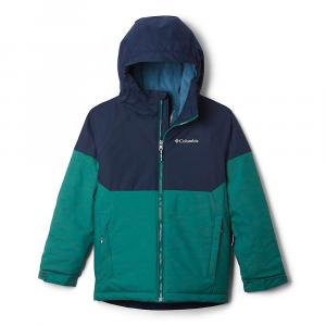 Columbia Boys' Alpine Action II Jacket - Large - Pine Green Heather/Collegiate Navy