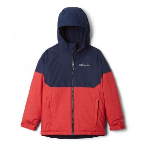 Columbia Boys' Alpine Action II Jacket - Small - Mountain Red Heather/Collegiate Navy