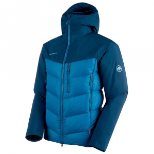 Mammut Men's Rime Pro IN Hybrid Hooded Jacket - Small - Sapphire / Wing Teal