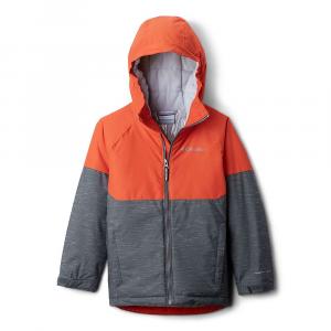 Columbia Boys' Alpine Action II Jacket - Large - Grill Heather/State Orange