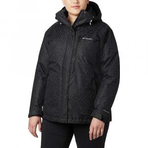 Columbia Women's Whirlibird IV Interchange Jacket - 1X - Black Sparkler Print / Black