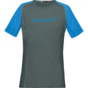 Norrona Women's Fjora Equaliser Lightweight T-Shirt - Small - Castor Grey / Campanula