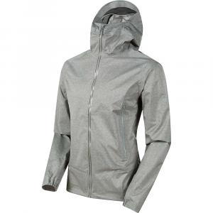 Mammut Men's Masao Light Hardshell Hooded Jacket - Medium - Granit
