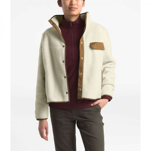 The North Face Women's Cragmont Fleece Jacket - Large - Vintage White / Cedar Brown