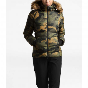 The North Face Women's Gotham Jacket II - Small - Burnt Olive Green Waxed Camo Print
