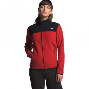 The North Face Women's TKA Glacier Full Zip Jacket - Small - Pompeian Red / TNF Black