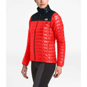 The North Face Women's ThermoBall Eco Jacket - Small - Fiery Red Matte/TNF Black Matte