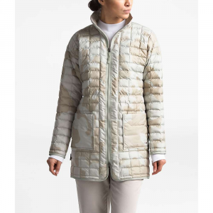 The North Face Women's ThermoBall Eco Long Jacket - Large - Dove Grey Oversized Textured Camo Print