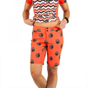 Shebeest Women's Skinny Americano Plus Size Short - 1X - Split Leaf / Watermelon
