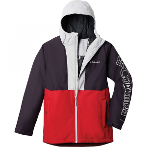 Columbia Men's Timberturner Jacket - Large - Mountain Red / Dark Purple / Nimbus Grey