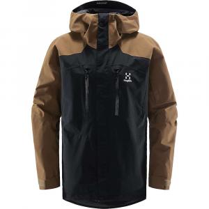 Haglofs Men's Elation GTX Jacket - Medium - True Black / Teak Brown