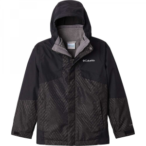 Columbia Boys' Bugaboo II Fleece Interchange Jacket - Large - Black Chevron Print / Black