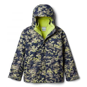 Columbia Boys' Bugaboo II Fleece Interchange Jacket - Large - Bright Chartreuse Camo Print