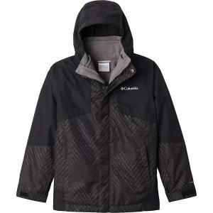 Columbia Boys' Bugaboo II Fleece Interchange Jacket - Medium - Black Chevron Print / Black