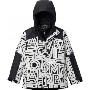 Columbia Boys' Whirlibird II Interchange Jacket - Small - Black Typo Print / Black