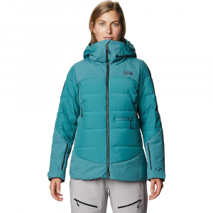 Mountain Hardwear Women's Direct North GTX Windstopper Down Jacket - Large - Washed Turq