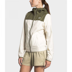 The North Face Women's Cyclone Jacket - Medium - Vintage White / Burnt Olive Green
