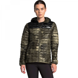 The North Face Women's ThermoBall Eco Hoodie - Large - New Taupe Green Vapor Ikat Print / TNF Black Matte