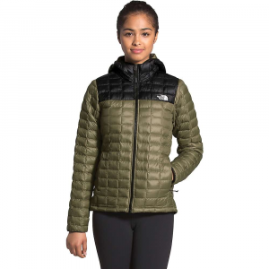 The North Face Women's ThermoBall Eco Hoodie - Small - Burnt Olive Green Matte / TNF Black Matte