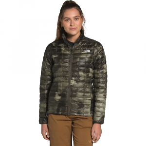 The North Face Women's ThermoBall Eco Jacket - Small - New Taupe Green Vapor Ikat Print Matte