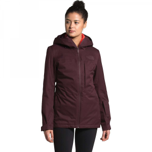 The North Face Women's ThermoBall Eco Snow Triclimate Jacket - Small - Root Brown Heather / Flare