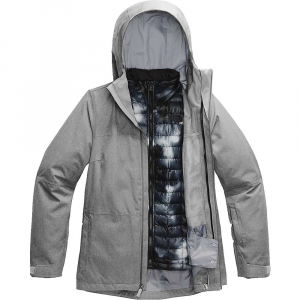 The North Face Women's ThermoBall Eco Snow Triclimate Jacket - Small - TNF Medium Grey Heather / TNF Black Ink Blur Print